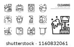 cleaning icon set. | Shutterstock .eps vector #1160832061