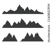 mountain silhouettes isolated... | Shutterstock .eps vector #1160832904
