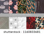 collection of seamless patterns.... | Shutterstock .eps vector #1160833681