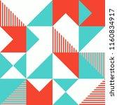 abstract minimal geometric... | Shutterstock .eps vector #1160834917