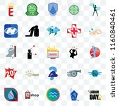 set of 25 transparent icons... | Shutterstock .eps vector #1160840461