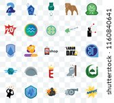 set of 25 transparent icons... | Shutterstock .eps vector #1160840641