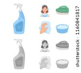 a cleaning woman  a housewife... | Shutterstock .eps vector #1160841817