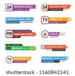 breaking news banners.... | Shutterstock .eps vector #1160842141