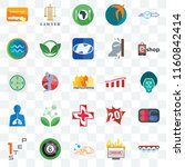 set of 25 transparent icons... | Shutterstock .eps vector #1160842414