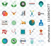 set of 25 transparent icons... | Shutterstock .eps vector #1160842477