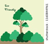 tree vector  eco green concept... | Shutterstock .eps vector #1160844961