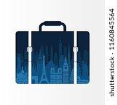 world famous monuments. travel...   Shutterstock .eps vector #1160845564