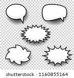 bubbles comic style duddle... | Shutterstock . vector #1160855164