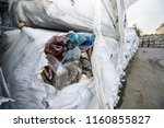 recyclable plastic garbage.... | Shutterstock . vector #1160855827