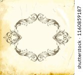 retro baroque decorations...   Shutterstock .eps vector #1160859187