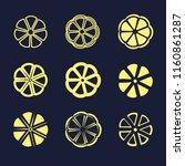 slices of lemon. yellow color.... | Shutterstock .eps vector #1160861287