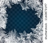 Frost Glass Pattern. Winter...
