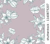 seamless pattern with flowers... | Shutterstock .eps vector #1160875207