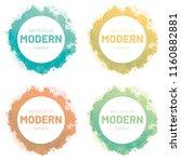 watercolor set banner. modern... | Shutterstock .eps vector #1160882881