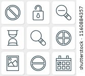 internet icons set with almanac ... | Shutterstock .eps vector #1160884357