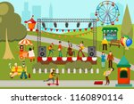 color image of a summer musical ... | Shutterstock .eps vector #1160890114