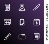 stationary icons line style set ... | Shutterstock .eps vector #1160891251