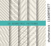 10 different brown patterns  ... | Shutterstock .eps vector #1160895877