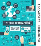 secure transaction or online... | Shutterstock .eps vector #1160897071