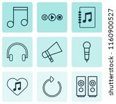 audio icons set with mike ... | Shutterstock . vector #1160900527