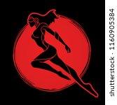 superhero flying action ... | Shutterstock .eps vector #1160905384