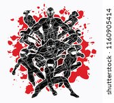 group of super heroes action ... | Shutterstock .eps vector #1160905414