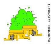 explosion of radioactive waste. ... | Shutterstock .eps vector #1160906941