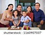 portrait of happy big... | Shutterstock . vector #1160907037
