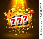 king slots 777 banner casino on ... | Shutterstock .eps vector #1160907907