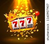 king slots 777 banner casino on ... | Shutterstock .eps vector #1160907907