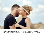 in love eastern couple in... | Shutterstock . vector #1160907967