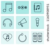 multimedia icons set with mike  ... | Shutterstock .eps vector #1160908951