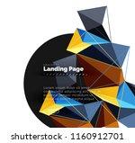 polygonal geometric design ... | Shutterstock .eps vector #1160912701