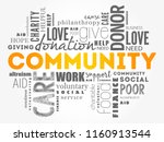 community word cloud collage ... | Shutterstock .eps vector #1160913544