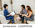 serious and thoughtful people... | Shutterstock . vector #1160933764