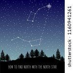 finding north star polaris.... | Shutterstock .eps vector #1160941261
