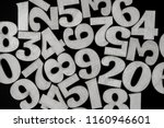 background of numbers. from... | Shutterstock . vector #1160946601