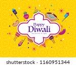 festival of lights diwali... | Shutterstock .eps vector #1160951344