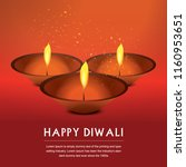 happy diwali candle design | Shutterstock .eps vector #1160953651