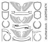 heraldic icons constructor of... | Shutterstock .eps vector #1160956474