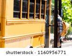african american schoolboy... | Shutterstock . vector #1160956771