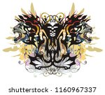 splattered butterfly with the... | Shutterstock .eps vector #1160967337