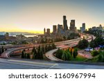 seattle modern skylines and... | Shutterstock . vector #1160967994
