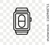 smartwatch vector icon isolated ... | Shutterstock .eps vector #1160968711