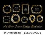 art deco decorative frame.... | Shutterstock . vector #1160969371