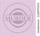 murder vintage pink emblem | Shutterstock .eps vector #1160970514