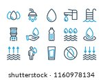 water related line icon set....