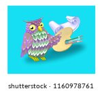 wise bird and attributes of art ... | Shutterstock . vector #1160978761