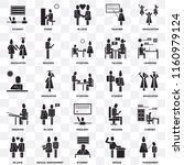 set of 25 transparent icons... | Shutterstock .eps vector #1160979124